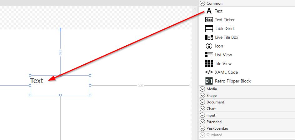 Peakboard Designer - The Basics