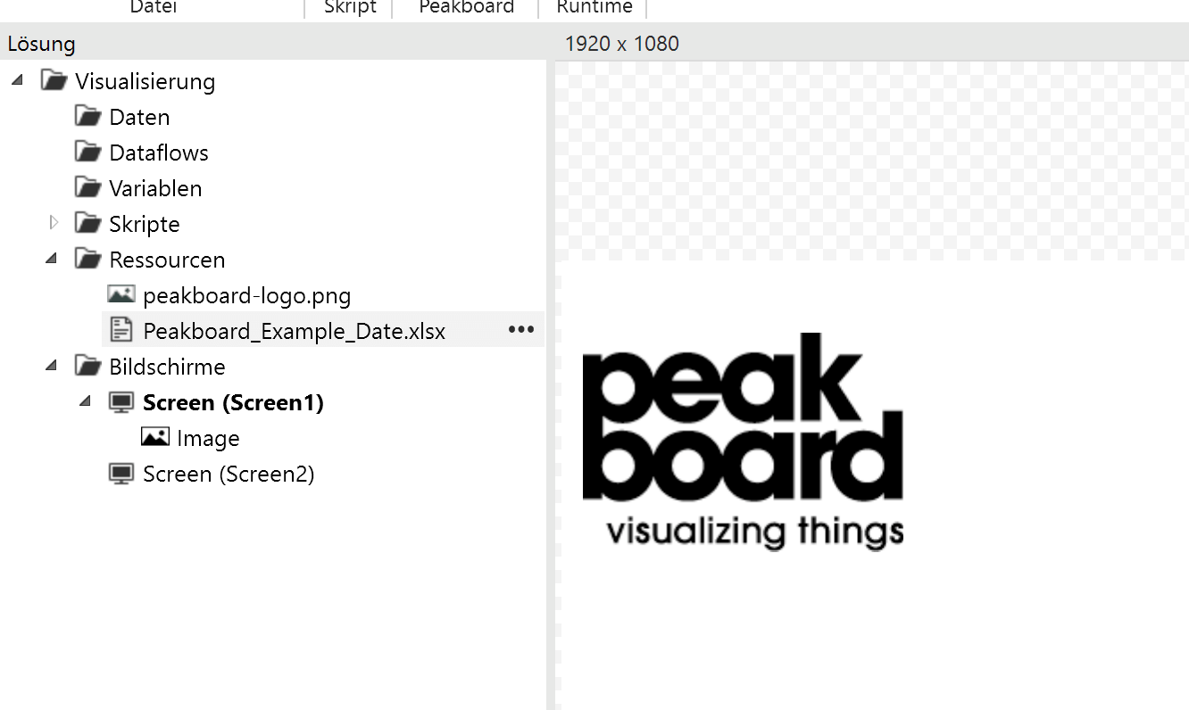 Peakboard Designer – Excel Added