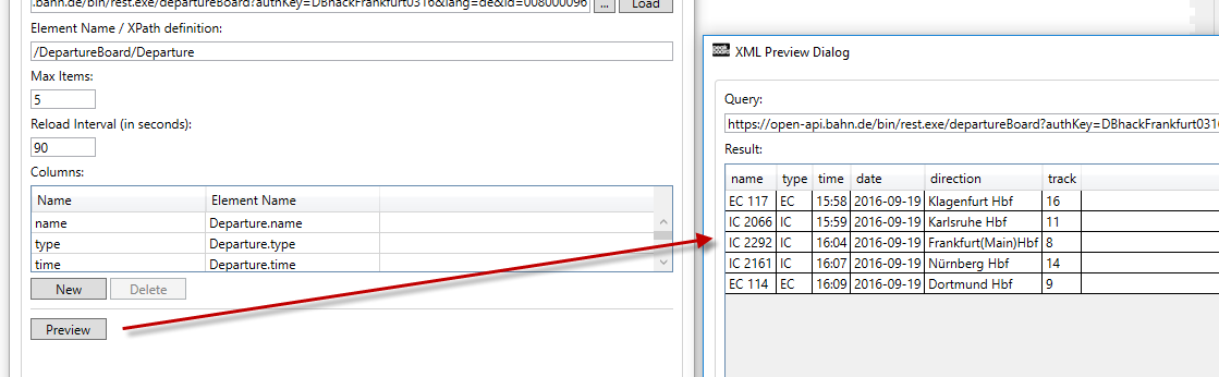 External Data Sources Using XML Data Source Example