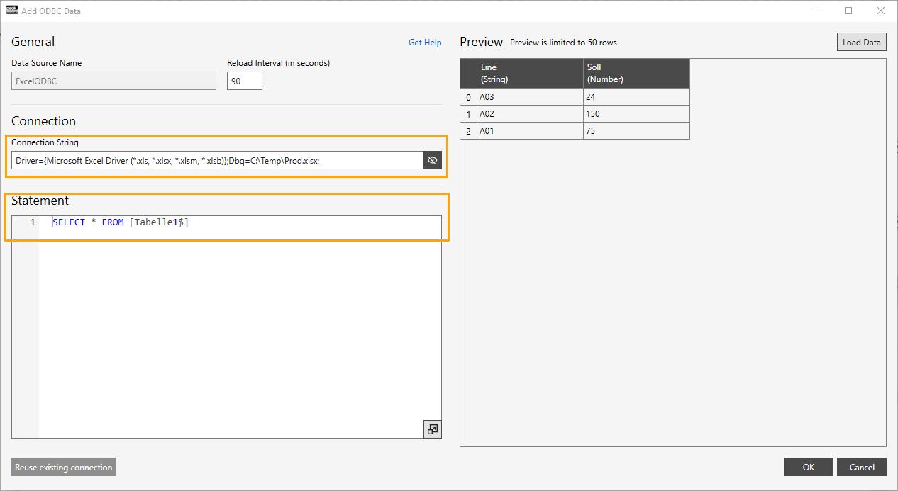Integrating Excel via ODBC