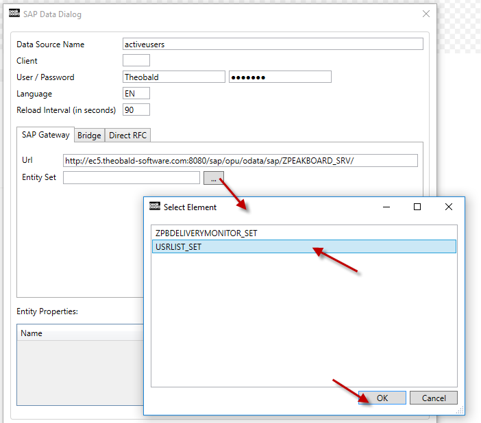 Sap Gateway Select Element