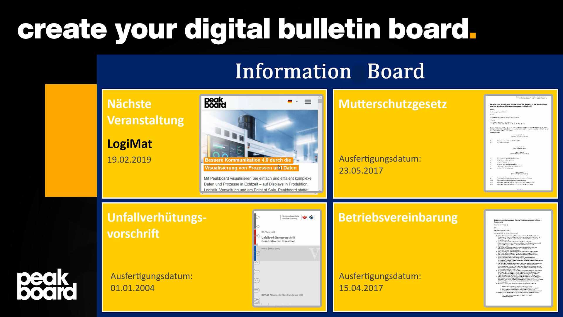 In this video we show how quickly and easily a digital information board can be created.